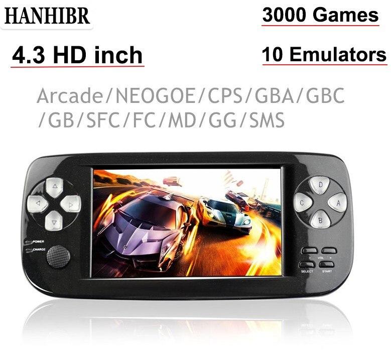 4,3 Zoll PAP K3 Plus Spielkonsole Für CP1/GBA/FC/NEO/GEO Tragbare 64 Bit handheld Video Spiel Player/Konsolen Eingebaute 3000 Spiele