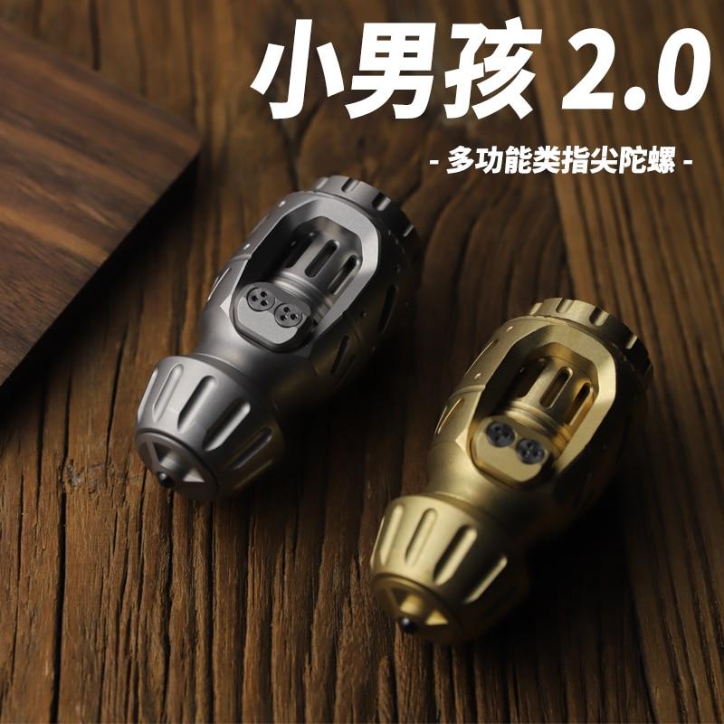 Old Nine Original EDC Boy 2.0 Egg Pushing Fingertip Gyro Brass Stainless Steel Decompression Smoking Cessation Toy Fidget Toys