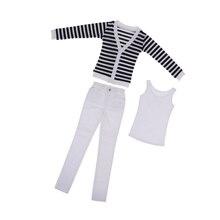 1/3 BJD Cool rayé Cardigan, débardeur & jean ensemble pour Normal 70cm oncle mâle taille poupée Accs