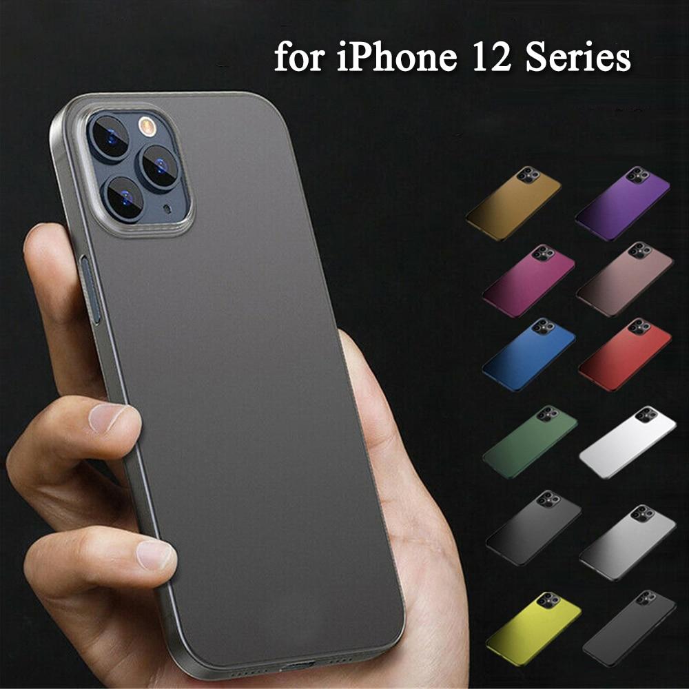 Funda protectora suave de TPU para móvil, carcasa mate para iPhone 12...