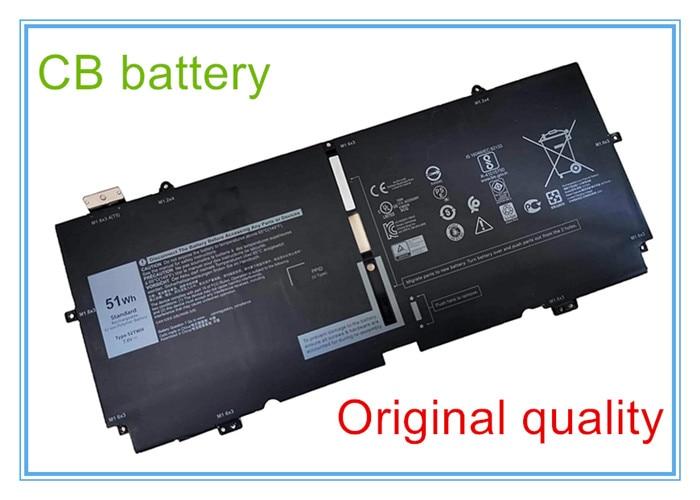 Calidad Original 52TWH 7,6 V 51Wh 4 celdas portátil batería Compatible 13...
