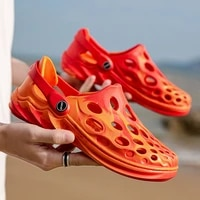 summer breathable hole shoes men and women hot sell hollow beach zapato unisex korean style casual sandals non slip slippers a3