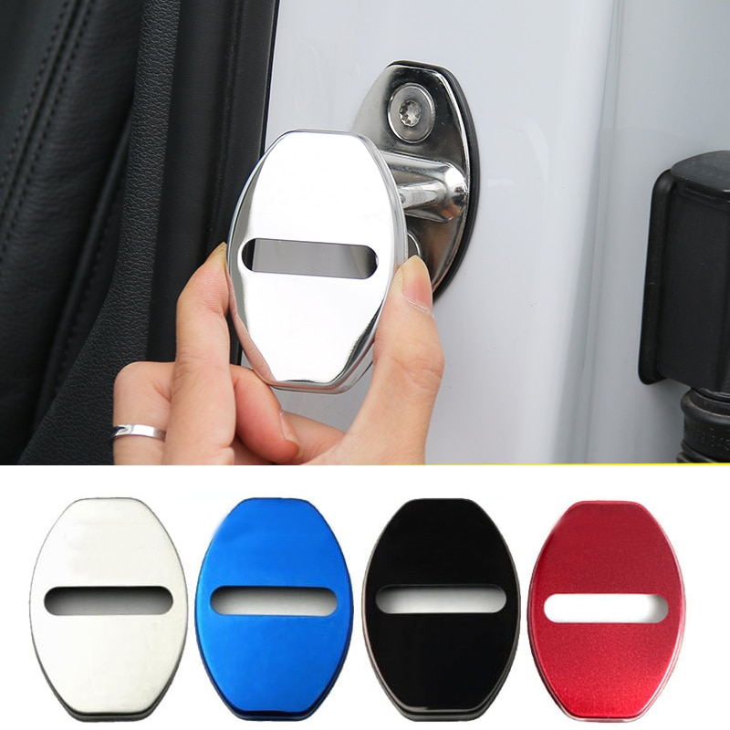 Автомобильный защита для дверного замка чехол для Audi серии S RS7 S3 S8 S5 SQ5 RS5 RS6 нержавеющая сталь дверной замок крышка 4 шт.