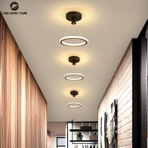 Современный светодиодный потолочный светильник для спальни, прикроватная лампа для коридора, балкона, входа, современный светодиодный пот...