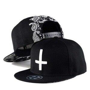 Hip-hop hat cross embroidery baseball cap male skateboard flat-brimmed hat men and women version hat H72
