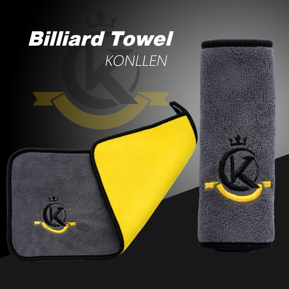 KONLLEN Towel Pool Billiard Cloth Multi-Function Rod Wiping Cloth Soft Durable Burnisher Cue Towel Cleaner Billiard Accessories multi function billiard accessories pool cue tips repair tool snooker burnisher shaper tapper high practicability easy to carry