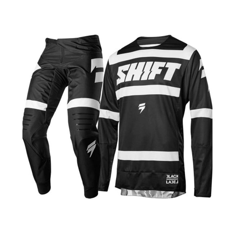 Conjunto de equipo Clearnce SHIFT MX Motocross MX, Conjunto de Jersey y pantalón de moto de cross ATV, Conjunto de Jersey de Enduro Supercross