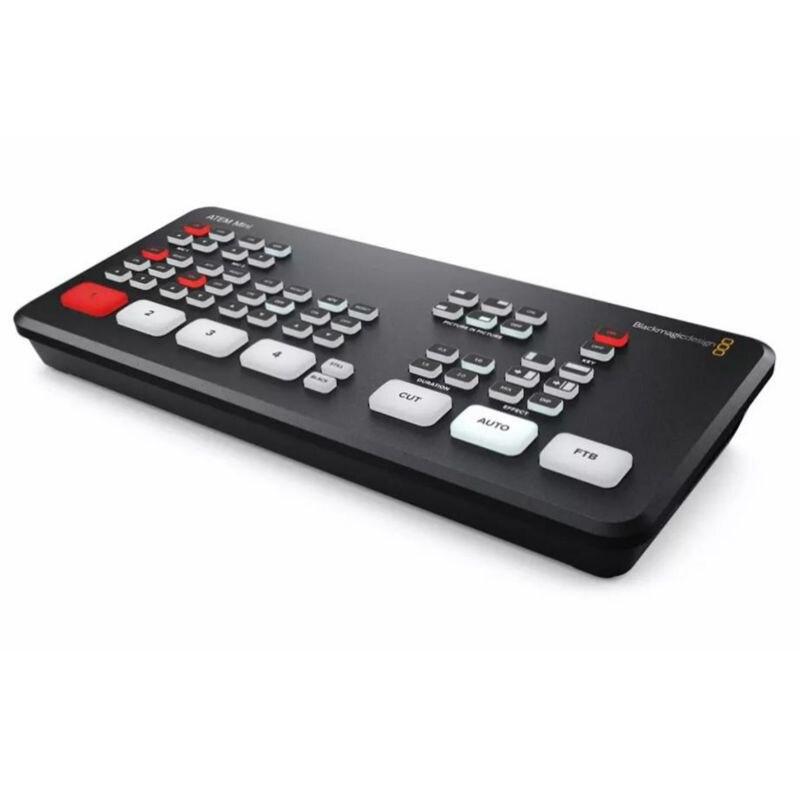 Multi-view e Gravação para Transmissão ao Vivo Blackmagic Design Atem Mini Pro Ios Vídeo Switcher 4 Hdmi Entrevista Bmd