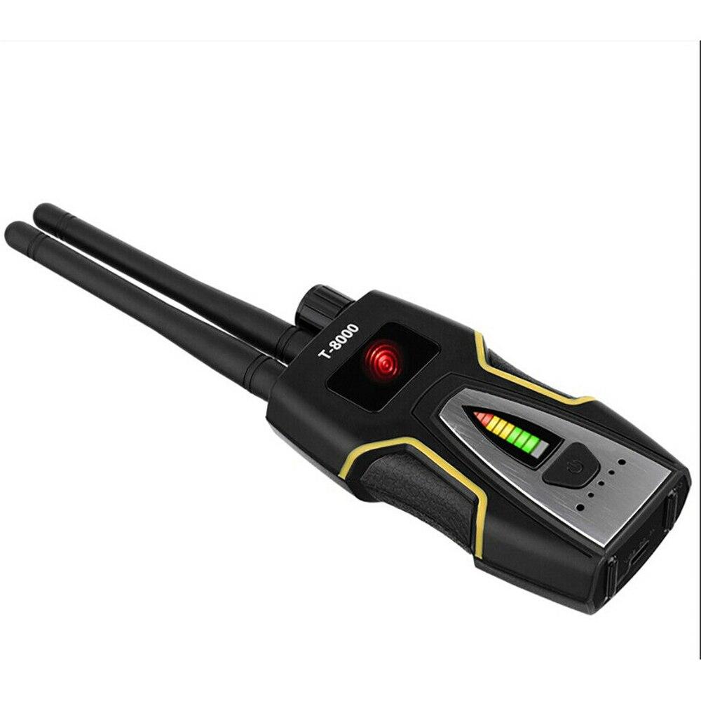 T-8000 Wireless RF Signal Detector Bug Anti-Spy Camera GSM Audio Finder GPS Scan Adjustable Sensitivity Of The Potentiometer enlarge