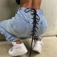 bandage denim trousers woman jeans pantalones vaqueros mujer 2021y2k de boyfriend for mezclilla pants pontalon leggings mid wais