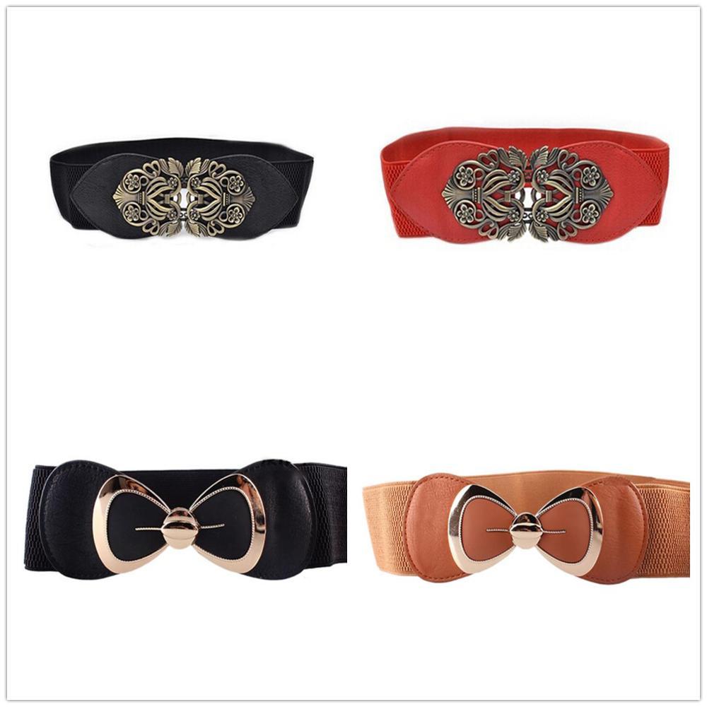 Designer Belts High Quality Women Ladies Elastic Cummerbunds Slimming Waist Belt Luxury Dress Ceintu