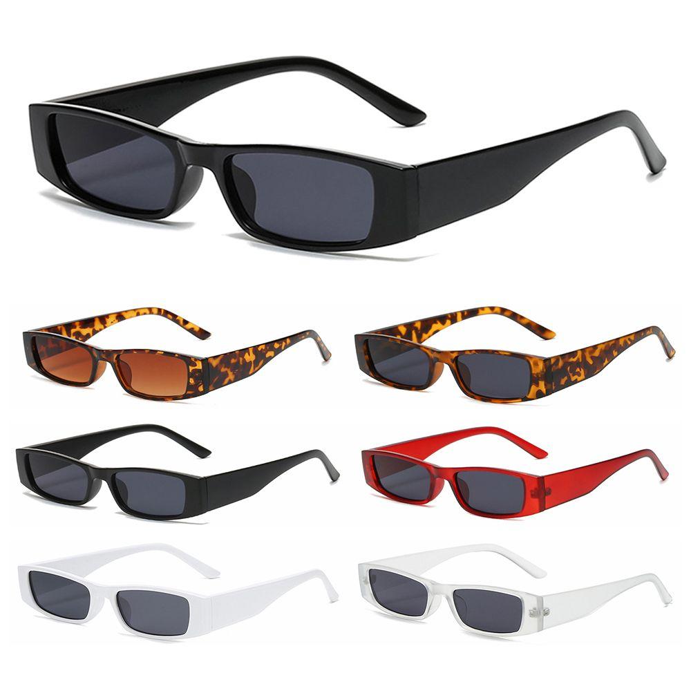 Женские Винтажные Солнцезащитные очки UV400, узкие трендовые маленькие прямоугольные солнечные очки в стиле ретро, маленькая оправа