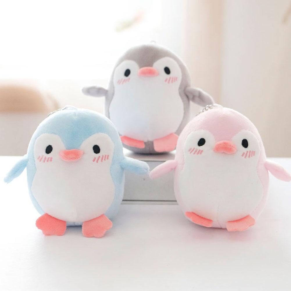 Hermoso pingüino Animal peluche muñeca juguete llavero de peluche llavero bolsa colgante