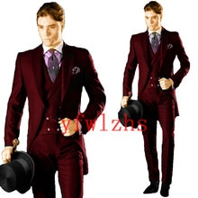 Handsome One Button Groomsmen Peak Lapel Groom Tuxedos Men Suits Wedding/Prom Best Blazer ( Jacket+P