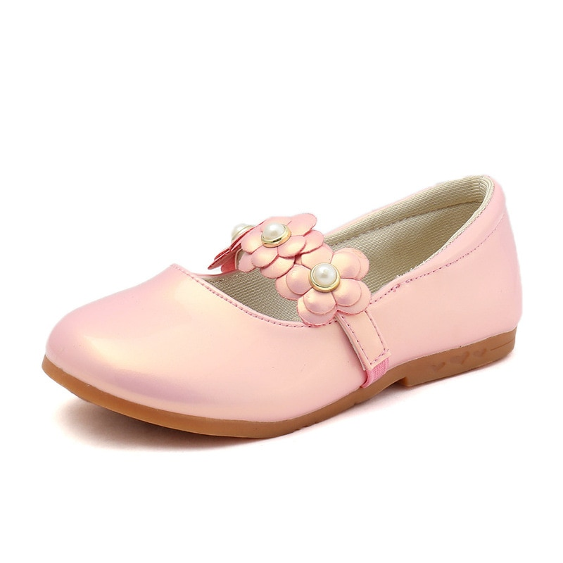 pink black red children girls shoes for kids student leather shoes school black dress shoes girls 4 5 6 7 8 9 10 11 12 13 14t Children Leather Shoes Flowers Princess Shoes Spring Autumn Kids  Girls Shoes Pink White Black Chaussure Fille 3 4 5 6 7 8 9-13