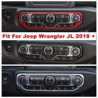 center control air condition ac multi function button switch panel decoration cover trim for jeep wrangler jl 2018 2019 2020 abs