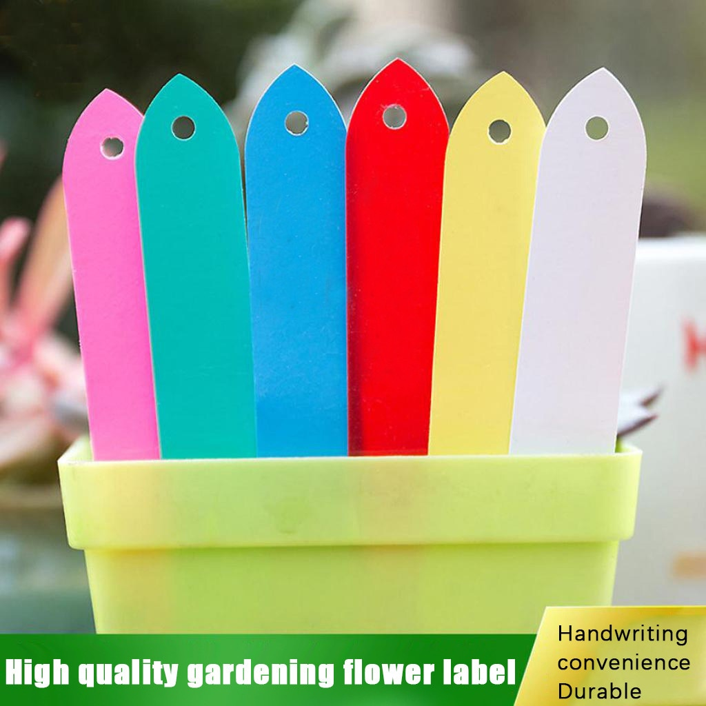 100PCs Plastic Plants Tags Nursery Garden Ring Label Pot Marker Stake Hanging Tags Greenhouse Bonsai Collar Tags