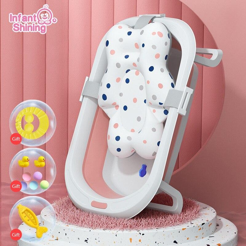 Infant Shining Folding Bath Tub Baby Bath 0-6 Years Large Size Newborn Baby Products Bath Seat Bathtub for Kids Baby Shower Bath
