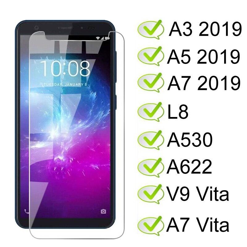 Vidrio templado para ZTE Blade A3 A5 A7 2019 Protector de pantalla En Blade L8 A530 A622 vidrio Protector de pantalla V9 Vita A7 Vita