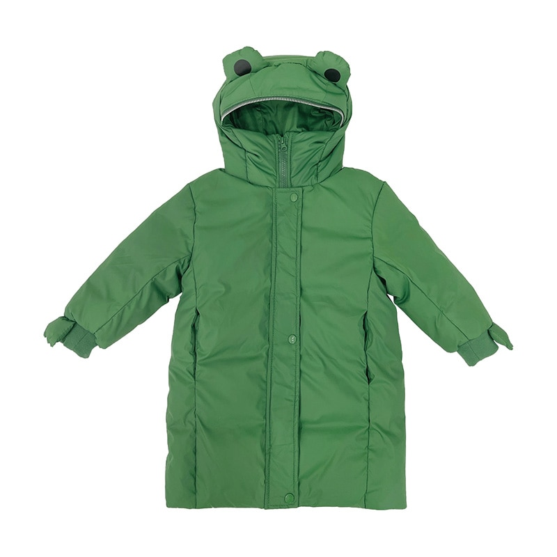 New Children's Down Jacket Boys and Girls Thick Down Jackets Solid Color Winter Warm and Windproof D