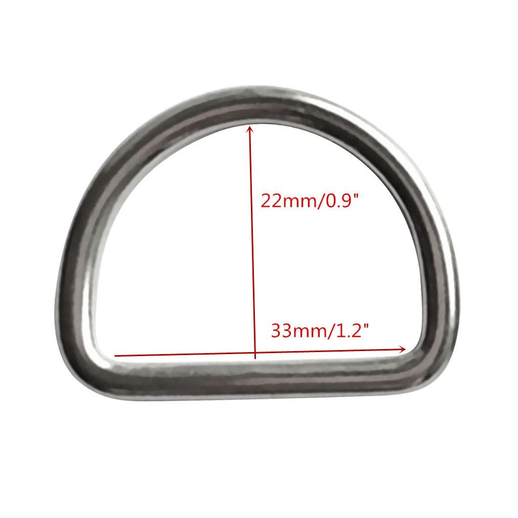 """Pack de 4 Uds de trajes de buceo de anillo D 1,2 """"correas/arnés-resistencia a la corrosión 316 acero inoxidable"""