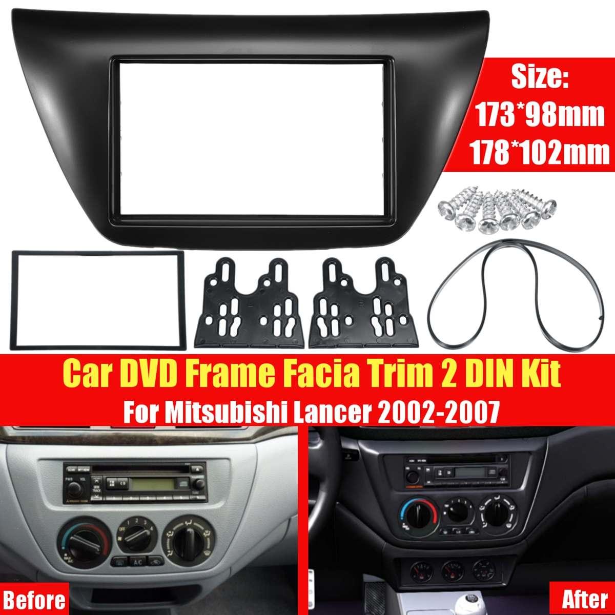 2 Din Car Radio para Panel de salpicadero CD DVD instalar Frame Dash interiores para Mitsubishi Lancer 2002-2007*173*98mm 178*102mm