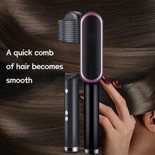 2 in 1 Hair Straightener Comb Fast Hot Heating Beard Combs Electric Hair Brush Straightener Styler C