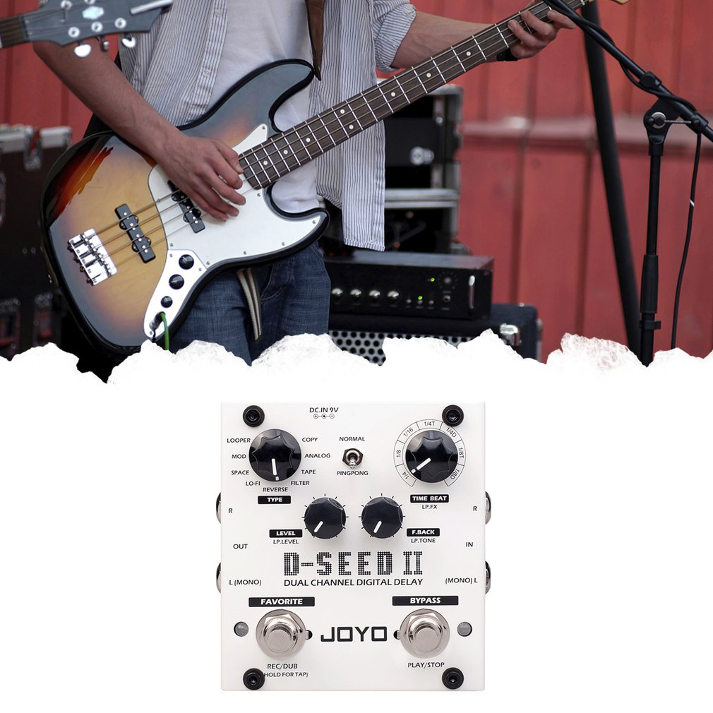 rowin tiny looper electric guitar effect pedal 10 minutes of looping unlimited overdubs Digital Delay Pedal For Electric Guitar Floor Multi Looper & Delay Guitar Effect Pedal Guitar Bass Accessories