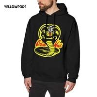 yellowpods cobra kai hoodie hip hop anime pullovers tops loose long sleeves autumn man cloth