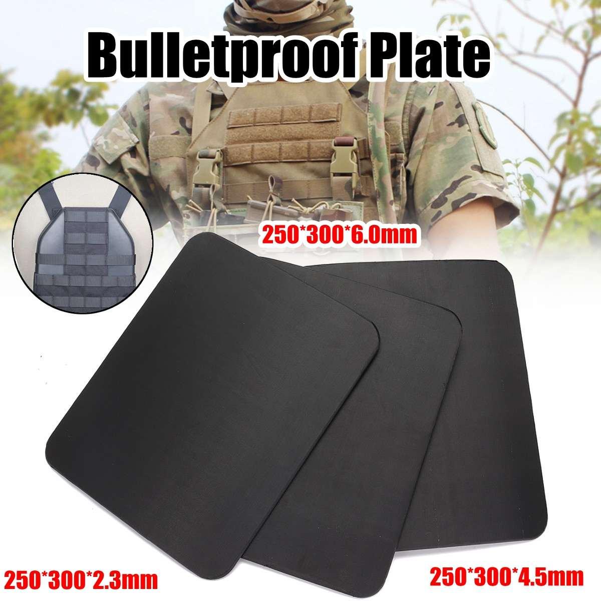 2.3mm/6.5mm/6.0mm placa de aço à prova de balas militar armadura de engrenagem de segurança da polícia suporte sozinho painel à prova de balas para rifle de assalto