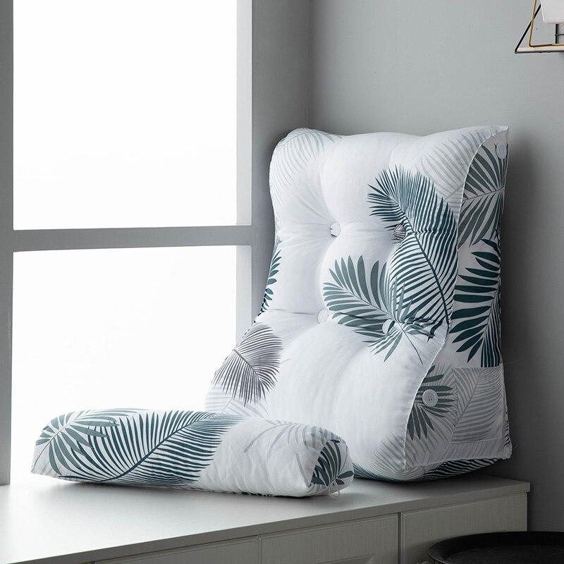 Cojín nórdico de viscosa para cabecera, funda suave para cama, respaldo grande, cojín para sofá, Soporte Lumbar para silla de oficina, regalo FK248
