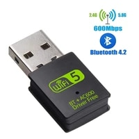 USB WiFi Bluetooth Adapter 600Mbps Dual Band 2 4 5Ghz Wireless External Receiver Mini WiFi Dongle for PC Laptop Desktop