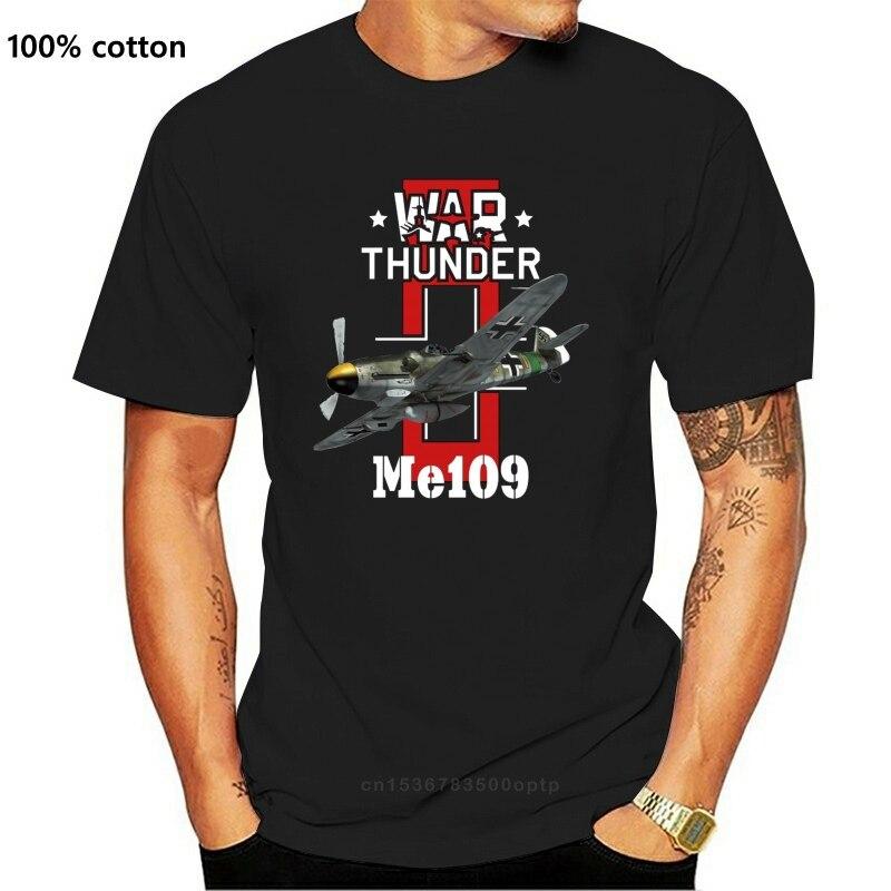 Luftwaffe t camisa guerra trovão me109 camiseta plus size básico camiseta engraçado homem 100 algodão de manga curta tshirt gráfico