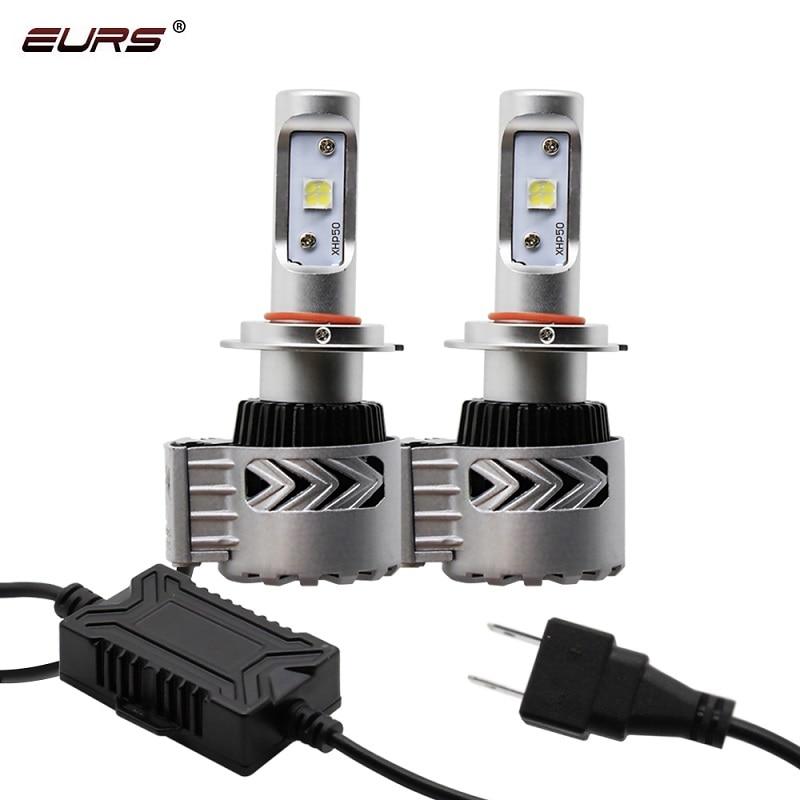 Eurs h7 led 12000lm carro farol lâmpadas h1 h3 led h4 h8 h9 h11 faróis kit hb3 hb4 super brilhante g8 auto lâmpadas led luzes de nevoeiro