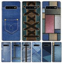 Jeans Cowboy Denim printed Phone Case For Samsung Galaxy A50 A70 A30S A51 A71 A10 A20E A40 A90 A20S M30S A6 A7 A8 A9 Plus Coque