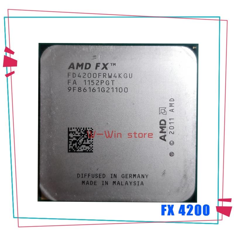 AMD FX-Series FX-4200 FX 4200 3,3 GHz Quad-Core CPU procesador FD4200FRW4KGU hembra AM3 + 1 orden