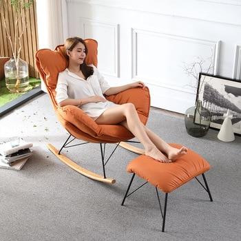Nordic rocking chair siesta balcony easy chair sleigh lazy lounge chair living room home leisure sofa rocking rocking chair