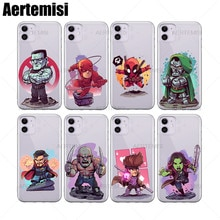Aertemisi Gambit Gamora Goblin gwenpooll Халк Железный кулак человек паук Луки клетка Магнето Miles Morales Modok ночной Каратель прозрачный ТПУ чехол для iPhone 6 6s 7 8 Plus X XS XR 11 Pro Max