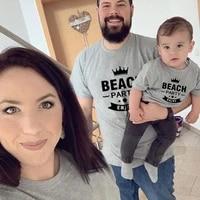father and son tshirts papa mama and bebe summer tops mum dad son daughter clothing family matching clothes baby boy girl tshirt