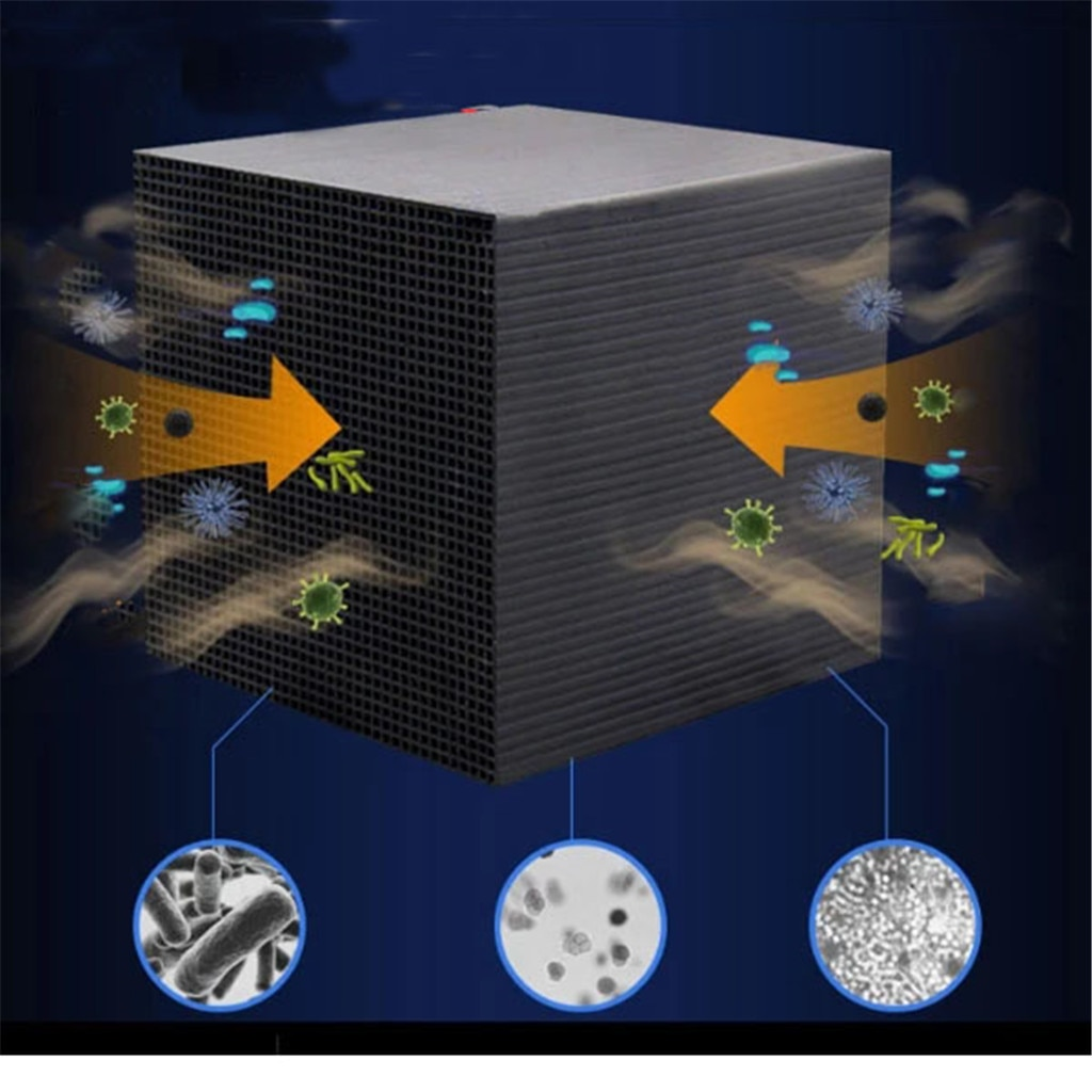 Cubo purificador de agua de acuario ecológico 10X10CM Ultra carbón activado fuerte filtración y absorción dropshipping
