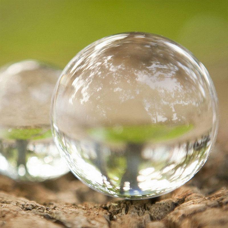 Jouets de décoration de sphère de boule de cristal artificielle en verre solide Transparent
