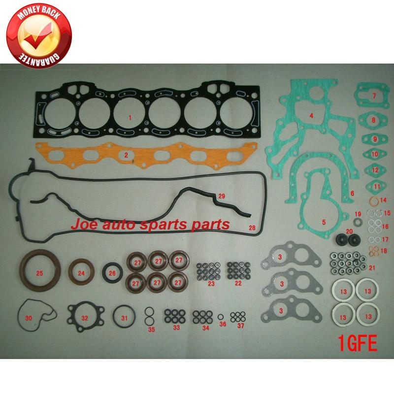1gfe 1g-fe motor completo kit conjunto de gaxeta para toyota cressida saloon 2.0l 1988cc 1982-1996 04111-70062 50251200 04111-70061
