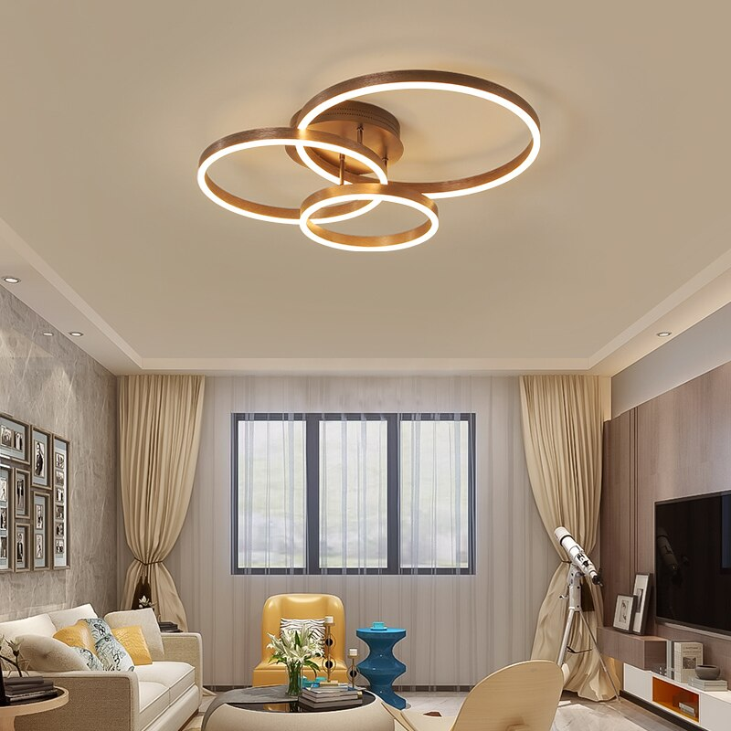 Creative Personality Round Led Chandeliers Living Room Bedroom Ceiling Lamp Modern Minimalist Atmosphere Home Warm Lighting