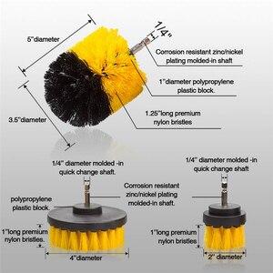 Image 4 - 3 шт. круглая полностью электрическая щетина дрель роторный набор инструментов для уборки скруббер чистящий инструмент кисти инструмент для мытья автомобиля