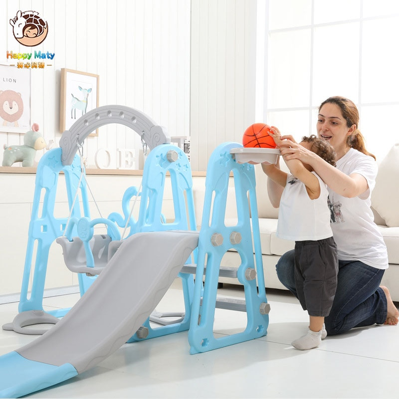 Children Slide and Swing Combination kids Indoor Playground Kindergarten Baby Outdoor Plastic Multifunctional Toys