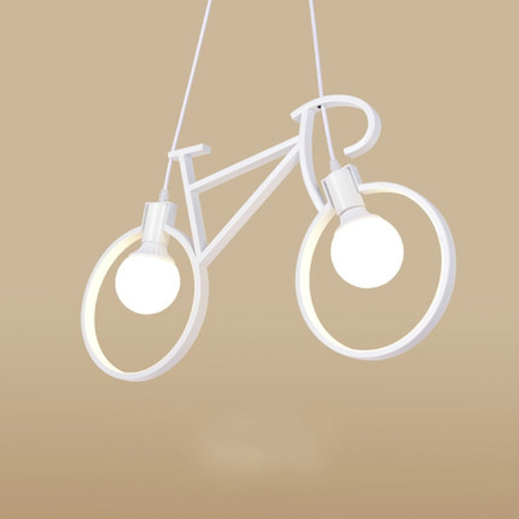 morden ferro bicicleta pingente lampada criativa sala de estar pingente sala de jantar
