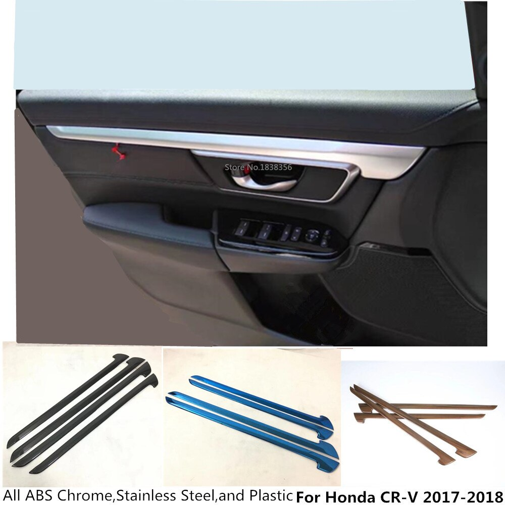Gran oferta para Honda CRV CR-V 2017 2018 2019 2020 coche interior puerta Panel tira cubierta borde interior pegatina embellecedor Marco de Panel moldura