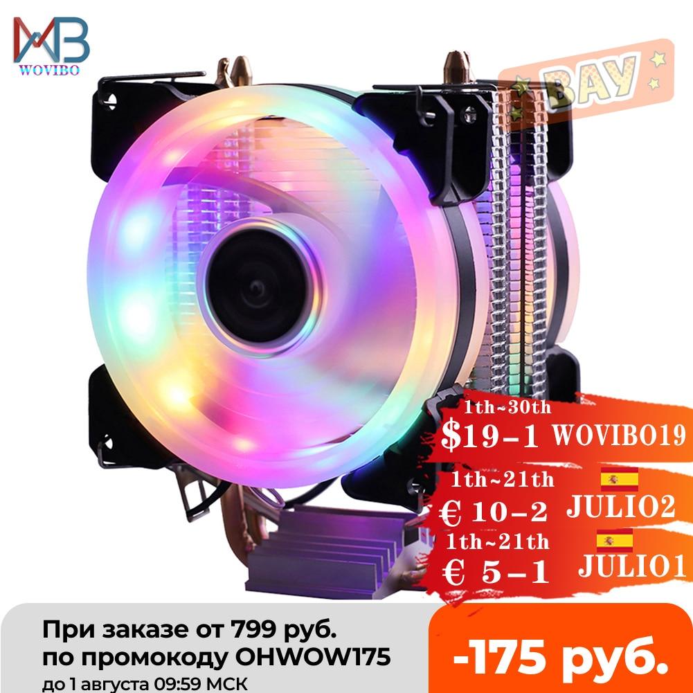 Efficient Cooling CPU Cooler Fan 3pin For Intel LGA 1150 1151 1155 1156 775 1200 AMD AM3 AM4 Quiet Ventilador Silent Radiator