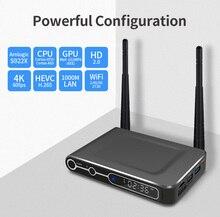 S922X Android 9.0 Smart TV Box Amlogic S922X DDR4 4GB RAM 64GB ROM double WiFi 1000M LAN BT4.2 4K HD lecteur multimédia à domicile décodeur