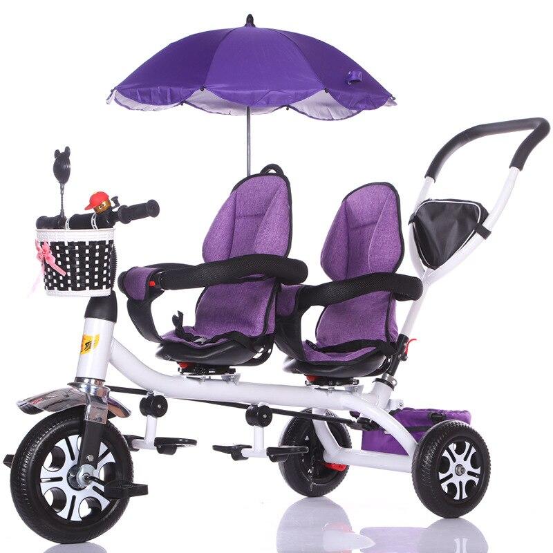 عربة أطفال مزدوجة بظلة مضادة للأشعة فوق البنفسجية عربة أطفال عربة أطفال مزدوجة عربة أطفال ذات مقعد دوار عربة أطفال مزدوجة
